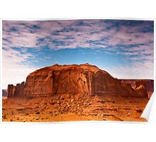 Clouds over Monument Valley Poster
