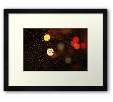 Taxi's waiting... Framed Print