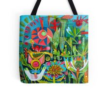 Birds and Buttons Tote Bag