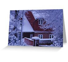Winter Home Greeting Card