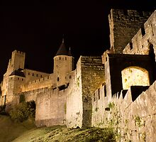 Carcassonne at night by ChrisSinn