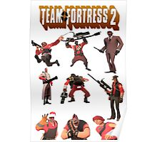 Team Fortress 2 - All Characters / Classes with TF2 Logo Poster