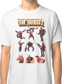Team Fortress 2 - All Characters / Classes with TF2 Logo Classic T-Shirt