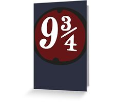 Harry Potter: Platform 9 3/4 Greeting Card