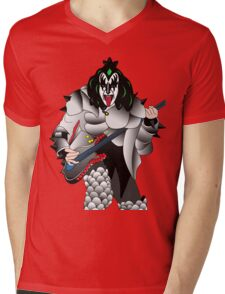 kiss Mens V-Neck T-Shirt