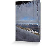 Icicles on The Mountains Greeting Card
