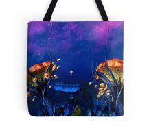 Psychadellic Mushrooms of the Shivering Isles Tote Bag