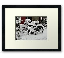 Do you want to borrow my bike? Framed Print