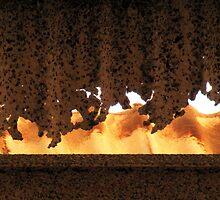 Rust curtain by Hélène David-Cuny