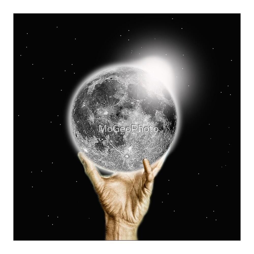 Eclipse (Moon) - (Based on an idea by M C Escher) by MoGeoPhoto