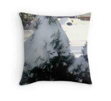 Snow People Throw Pillow