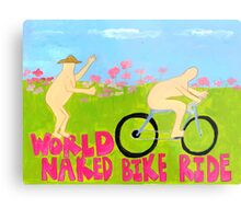 World Naked Bike Ride Metal Print