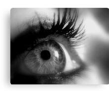 Eye macro in B&W Canvas Print