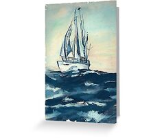 Sailing on High Seas Greeting Card