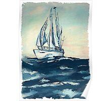 Sailing on High Seas Poster