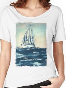 Sailing on High Seas Women's Relaxed Fit T-Shirt