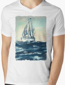 Sailing on High Seas Mens V-Neck T-Shirt