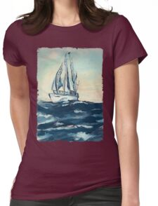 Sailing on High Seas Womens Fitted T-Shirt