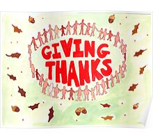 Giving Thanks at a Nudist Camp Poster