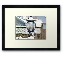light in the snow Framed Print