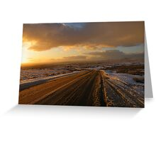Dartmoor: The Road Across the Moor - Time to go Home Greeting Card