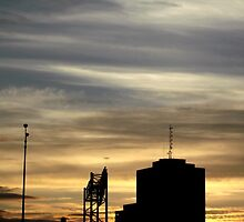 Sunset Skyline in Hull Quebec by M Sylvia Chaume