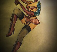 Full Sleeve Pinup girl by butterflyashes