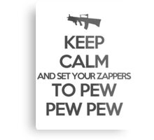 Starkid: Keep calm and set your zappers to pew pew pew (grey) Metal Print