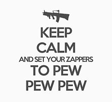 Starkid: Keep calm and set your zappers to pew pew pew (grey) Unisex T-Shirt