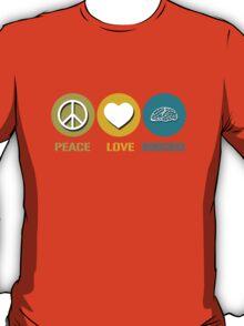 Peace love neuroscience geek funny nerd T-Shirt