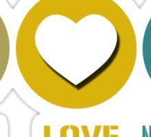 Peace love neuroscience geek funny nerd Sticker