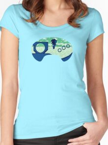 Green Hill Zone Women's Fitted Scoop T-Shirt