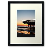 Buckroe Beach Pier At Sunrise Framed Print