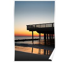 Buckroe Beach Pier At Sunrise Poster