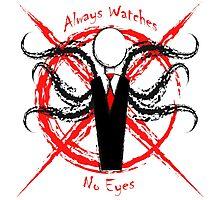 Creepypasta - Slender Man : Always Watchin' No Eyes Photographic Print