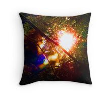 Evergreen rainbow Throw Pillow