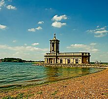 normanton church - rutland water by Paul Adkin