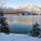Lake and Snow by Daidalos