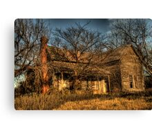 Abandoned & Neglected in Carbon Canvas Print