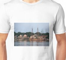 French Frigate Hermione and Schooner Alliance Unisex T-Shirt