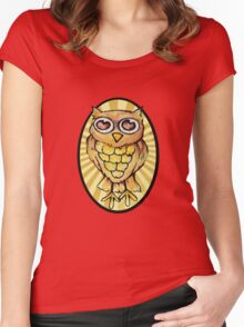 Cute Retro OWL Women's Fitted Scoop T-Shirt