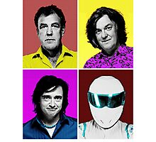 Top Gear Inspired Pop Art, All Personalities in One Photographic Print