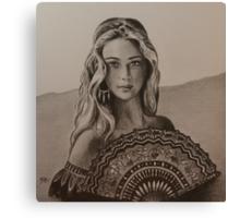Girl from Santa Fe Canvas Print