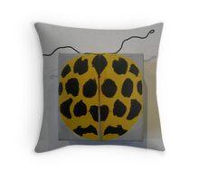 lady bug - yellow harmonia conformis Throw Pillow