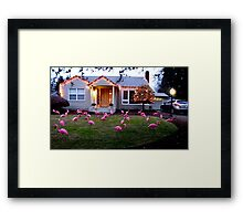 Dreaming of Home!  Decorated Floridian Xmas Yard in Oregon Framed Print