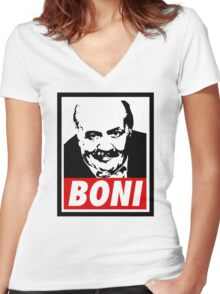 BONY Women's Fitted V-Neck T-Shirt