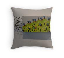 caterpillar - eupakardia moth Throw Pillow