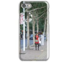 tall girl tall trees iPhone Case/Skin