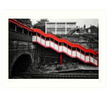 Kensall Green Tube Station Art Print