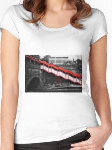 Kensall Green Tube Station Women's Fitted Scoop T-Shirt
